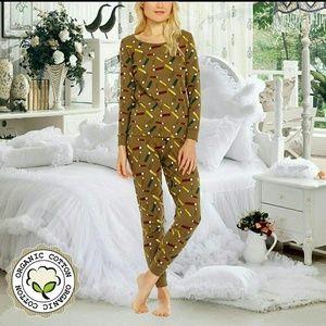 Womens 100% Organic Cotton Pajamas Sz S/M